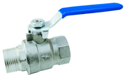 M/F ball valve with handle steel - full flow