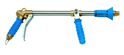Spray gun with two agjustment possibility